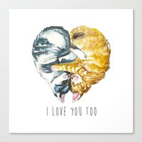Cats Love . Valentine's … Canvas Print