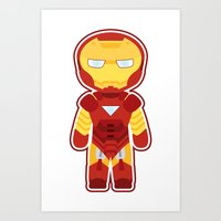 Chibi Iron Man Art Print
