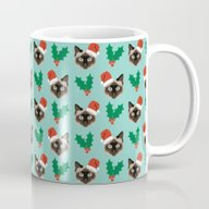 Siamese Cat Cute Christm… Mug