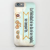 iPhone & iPod Case featuring Felicidad - Happiness by metroymediodesigns