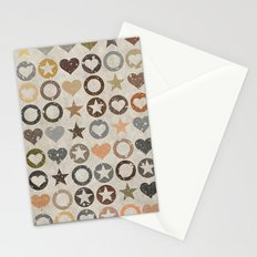 stars and hearts Stationery Cards