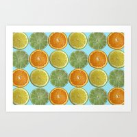 Lemons, Limes, Oranges, Oh my!  Citrus Photography Art Print