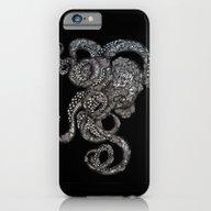Barnacle Octopus In Blac… iPhone 6 Slim Case