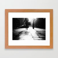 Light Shopping Framed Art Print