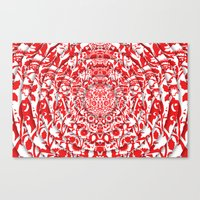 Illusionary Daisy (Red) Canvas Print