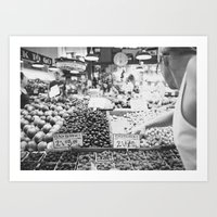 Pike's Place Market Art Print