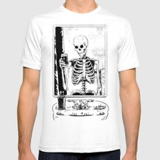 Skelfie Mens Fitted Tee SMALL White