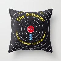 The Prisoner - Patrick McGoohan Vintage Decoration Print Posters Throw Pillow