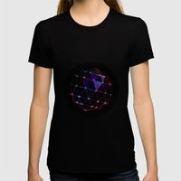 BLACKLIGHT CRYSTAL BALL Womens Fitted Tee Black SMALL