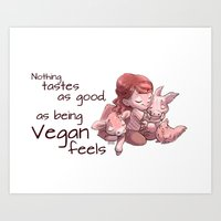 Being Vegan Art Print