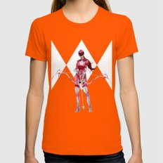 Pink Ranger Womens Fitted Tee Orange SMALL
