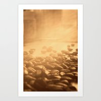 Coffee Impression Retro Art Print