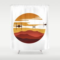To the sunset Shower Curtain