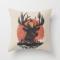Look Deep Into Nature Throw Pillow