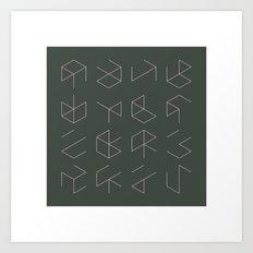 #38 Phantom cubes – Geometry Daily Art Print