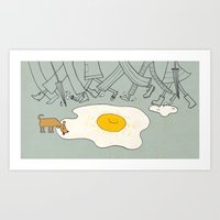sunny side up Art Print