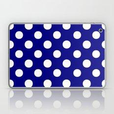 Polka Dots (White/Navy Blue) Laptop & iPad Skin
