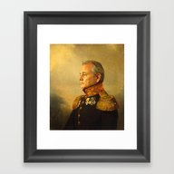 Framed Art Print featuring Bill Murray - Replacefac… by Replaceface