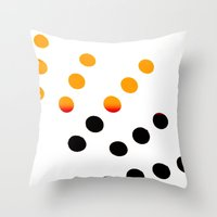 Black And Orange Dots Throw Pillow