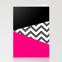 Color Blocked Chevron 8 Stationery Cards