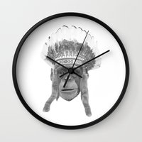 Indian Headdress Monkey Wall Clock
