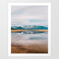 Mountain Reflections  Art Print