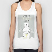 Never Eat Yellow Snow Unisex Tank Top