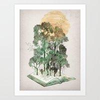 book Art Prints featuring Jungle Book by David Fleck
