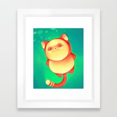 Green Pudding Framed Art Print