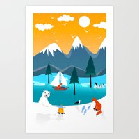 River Island Art Print