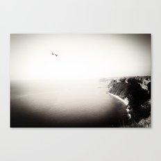 The Sea, The Sky, The Seagulls Canvas Print