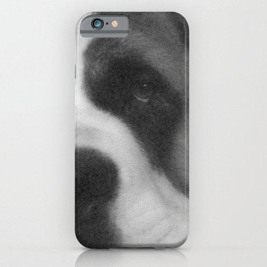 St. Bernard Portrait -- Black & White iPhone & iPod Case