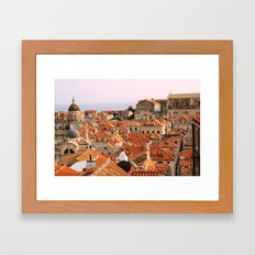 Dubrovnik, Croatia. Sunset. Framed Art Print