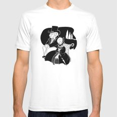 M. Leblanc et Mlle. Lanoire White SMALL Mens Fitted Tee