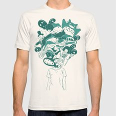 Studio ghibli mash up Mens Fitted Tee Natural SMALL