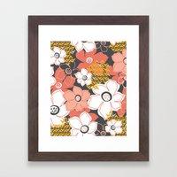 Petals & Pods - Sorbet Framed Art Print