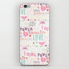 Be a girl !  iPhone & iPod Skin
