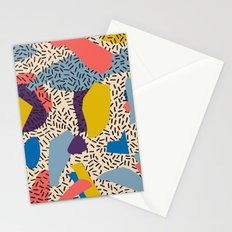 Memphis Inspired Pattern 2 Stationery Cards