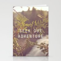 seek out adventure. Stationery Cards