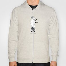 Goat on a Unicycle (labeled) Hoody