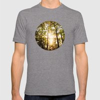 Sunset Glow Mens Fitted Tee Tri-Grey SMALL