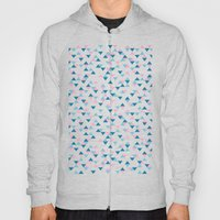 Triangles Blue And Pink … Hoody