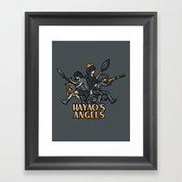 HAYAO'S ANGELS Framed Art Print