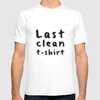 Last Clean Tshirt Mens Fitted Tee White SMALL