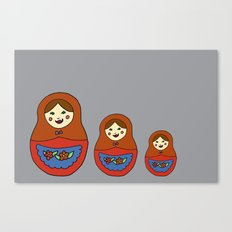 3 Matroyshkas Canvas Print