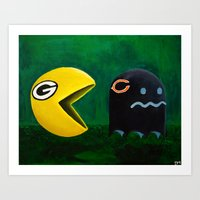Green Bay Packers Vs Chicago Bears Art Print