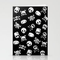 Cute Skull Stationery Cards
