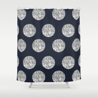 Glitter Pois Shower Curtain
