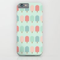 iPhone & iPod Case featuring POPSICLES - BLUE by ajoo