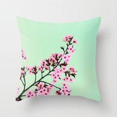 GREEN HONEY Throw Pillow